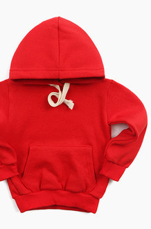 Plain Kids Hood Red