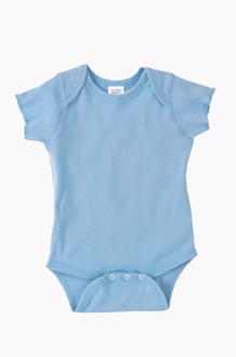 RABBIT SKINS Infant S/S Bodysuit Lt.blue