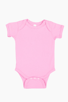 RABBIT SKINS Infant S/S Bodysuit Lt.Pink