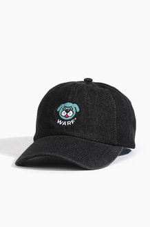 Warf Big Face Cap Denim Black