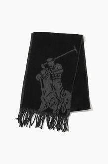 POLO Big Pony Jacquard Scarf Black/Windsor