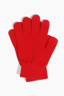 Plain  Spectator Touch Glove Red