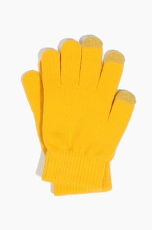 Plain  Spectator Touch Glove Gold