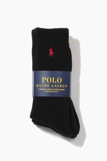 POLO classic cotton sports Socks 3pack Black