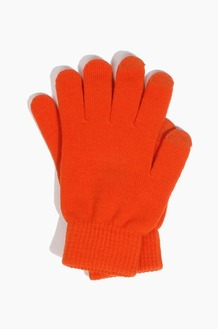 Plain  Spectator Touch Glove Deep Orange