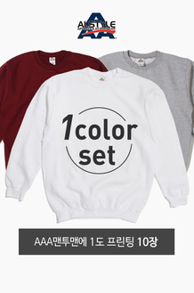 1Color Printing Set AAA 맨투맨 10장