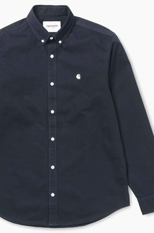CARHARTT-WIP Madison L/S Shirts Dk.Navy/Wax