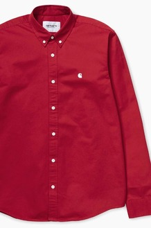 CARHARTT-WIP Madison L/S Shirts Cardinal/Wax