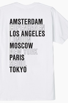 OBEY Intl Cities S/S White