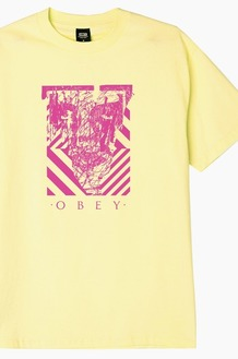 OBEY Scratched Icon S/S Lemon