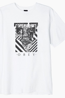 OBEY Scratched Icon S/S White