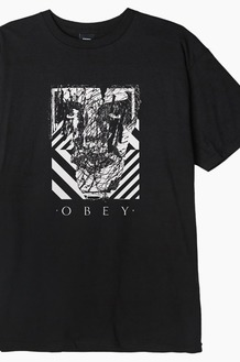 OBEY Scratched Icon S/S Black