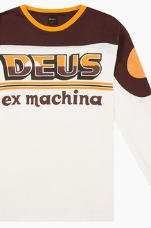 DEUS Sunset Moto Jersey Brown/White