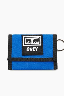 OBEY Drop Out Tri Fold Wallet Sky Blue