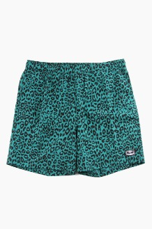 OBEY Dolo Short Leopard Blue Green