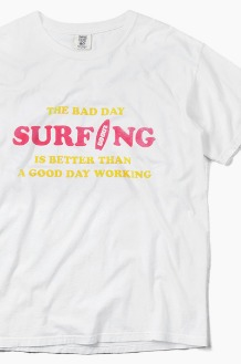 GO OUT Bad Day Surfing S/S White