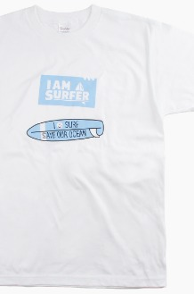 I AM A SURFER Save Our Ocean S/S White