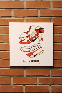 RUDYINDAHOUSE Rudy's Manual Artwork Canvas Jordan 35x35