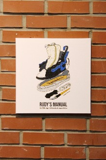 RUDYINDAHOUSE Rudy's Manual Artwork Canvas Blazer 35x35
