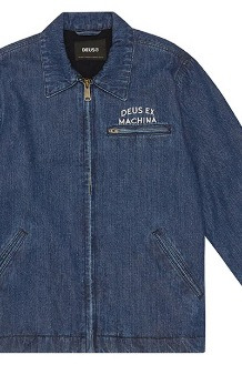 DEUS Lloyd Jacket Jacket Mid Blue Denim