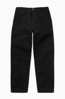 CARHARTT-WIP Double Knee Pant Black Rinsed