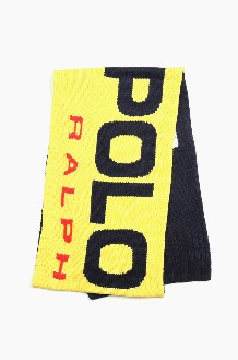 POLO Sport Knit Scarf Yellow/Navy