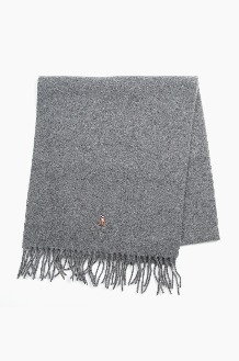 POLO Signature Italian Virgin Wool Scarf Grey