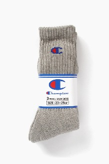 CHAMPION Champion Basic Socks 3Pack Grey